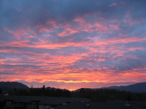 A sunset from Port Moody