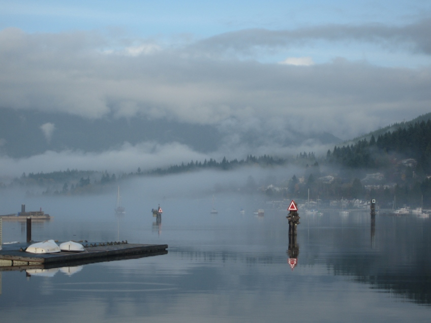 Burrard Inlet on a misty November morning