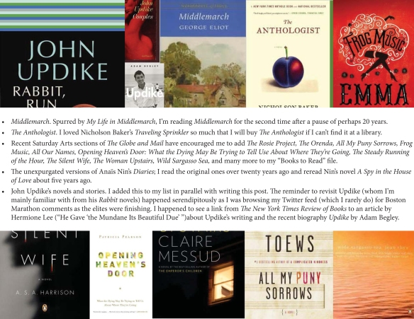A collage of book covers with text about the books